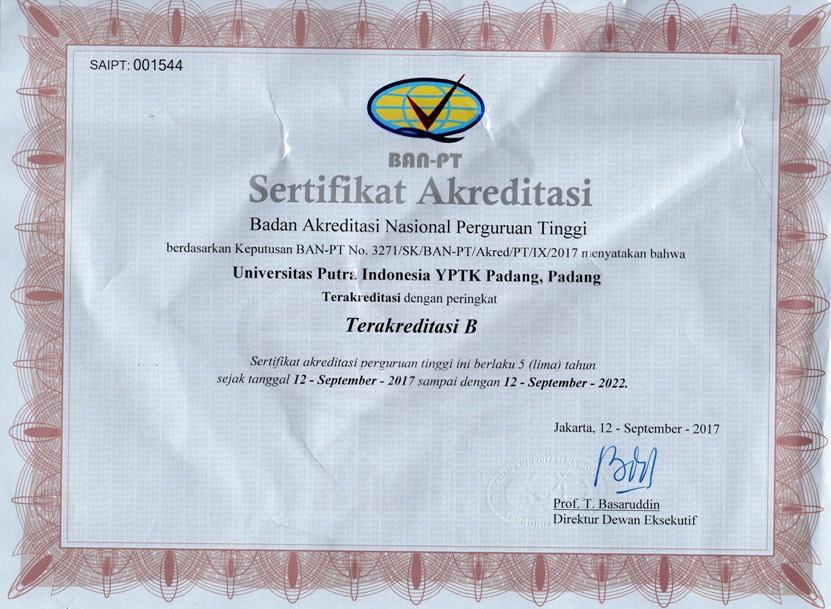 Sertifikat Akreditasi Fakultas Psikologi